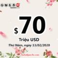 Kết quả xổ số Powerball ngày 09/02/2020: Jackpot hiện là $70 triệu đô
