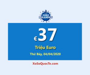 Xổ số EuroMillions châu Âu tăng giá trị jackpot lên €37 Triệu Euro