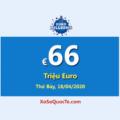 Một người chơi trúng giải Nhất của Euro Millions; Jackpot hiện là: €66 Triệu Euro