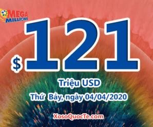 Giá trị giải jackpot của xổ số Mega Millions tiếp tục nhảy lên $121 triệu USD