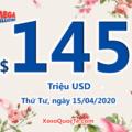 Kết quả xổ số Mega Millions ngày 11/04/2020; Jackpot hiện là $145 triệu đô-la