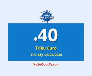 Hai người trúng giải Nhất, Euro Millions tăng giá trị jackpot lên €40 Triệu Euro