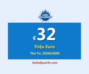 Euro Millions tìm thấy hai người chơi trúng giải Nhất trong phiên 25/04/2020
