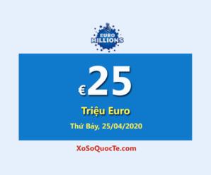 Kết quả xổ số châu Âu Euro Millions phiên ngày 22/04/2020