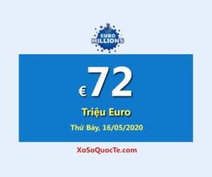 Một người trúng giải Nhất; Euro Millions Jackpot là €72 Triệu Euro