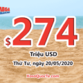 Kết quả xổ số Mega Millions ngày 16/05/2020; Jackpot lên $274 triệu USD