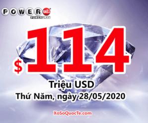 Một người trúng giải Nhất $2 triệu đô với xổ số Powerball phiên 24/05/2020