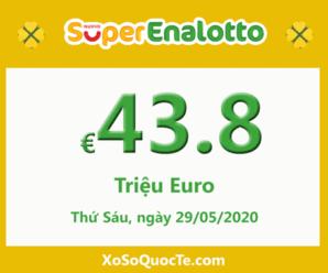 Jackpotxổ số tự chọn SuperEnalotto của Ý hiện là 43.8 triệu Euro