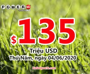 Jackpot xổ số Powerball đang tìm chủ trị giá $135 triệu đô-la