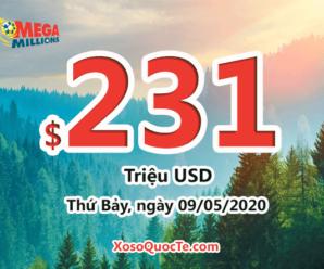 4 người trúng giải Nhất, Jackpot xổ số Mega Millions vượt lên $231 triệu USD