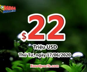 Kết qủa xổ số tự chọn Mega Millions ngày quay thưởng 13/06/2020