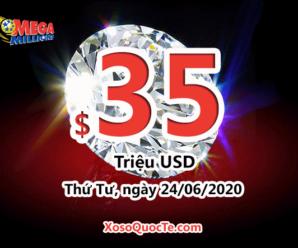 Jackpot của xổ số tự chọn Mega Millions đã tăng lên $35 triệu USD