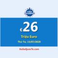 EuroMillions đang có jackpot €26 Triệu Euro – tương đương hơn 676 tỷ đồng