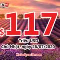Ngày 23/07/2020: Xổ số Powerball có 1 người chơi trúng $1 triệu USD