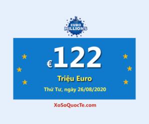 €122 triệu Euro của Euro Millions đang là jackpot xổ số tự chọn lớn nhất thế giới