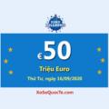 Kết quả xổ số EuroMillions ngày 12/09/2020; Jackpot đang là €50 triệu Euro