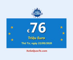 Năm người trúng giải Nhất, Euro Millions tăng giá trị Jackpot lên €76 Triệu Euro