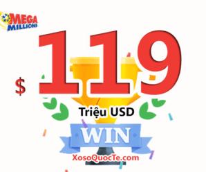 16/09/2020: Jackpot Mega Millions vừa nổ – $119 triệu USD có chủ