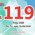 Kết quả xổ số Mega Millions ngày 12/09/2020; Jackpot tiếp theo trị giá $119 triệu USD