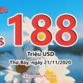Kết quả xổ số Mega Millions ngày 18/11/2020: 1 người trúng giải Nhất