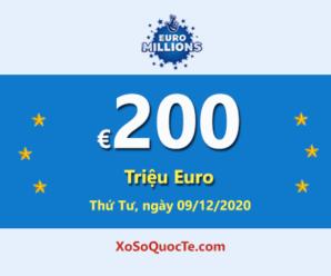 Kết quả xổ số châu Âu Euro Millions ngày 05/12/2020; Jackpot đang có giá trị €200 triệu Euro