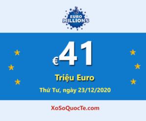 4 người chơi trúng giải Nhất của Euro Millions; Jackpot hiện là: €41 triệu Euro