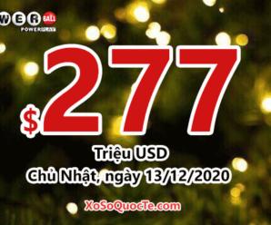 Kết quả xổ số Powerball ngày 10/12/2020: 2 người trúng giải triệu đô