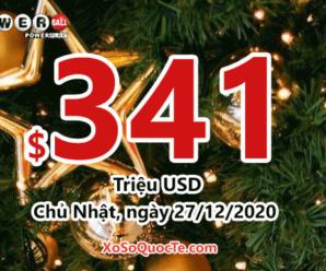 Rộn ràng không khí Giáng Sinh 2020, Jackpot Powerball tăng lên $341 triệu đô-la