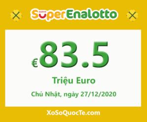 Xổ số Italia SuperEnalotto tăng sức nóng với jackpot 83.5 triệu Euro