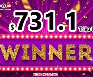 Jackpot Powerball có chủ, $731.1 triệu đô-la thuộc về người chơi từ Maryland