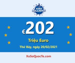 5 người chơi trúng giải Nhất; Jackpot Euro Millions hiện đang lớn nhất thế giới trị giá €202 triệu Euro