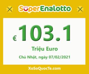 Jackpot của xổ số tự chọn Ý SuperEnalotto tiếp tục tăng cao lên 103.1 triệu Euro