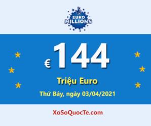 4 người trúng giải Nhất, Euro Millions đang có Jackpot €144 triệu Euro