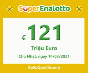 Xổ số Italia SuperEnalotto ấm dần lên với jackpot 121 triệu Euro