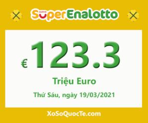 Jackpot của xổ số tự chọn Ý SuperEnalotto hiện đang có giá trị lên 123.3 triệu Euro