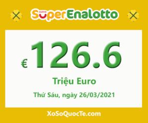 Xổ số Ý SuperEnalotto tăng sức nóng với Jackpot lên 126.6 triệu Euro