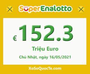 Jackpot của xổ số tự chọn Ý SuperEnalotto tiếp tục tăng cao lên €152.3 triệu Euro