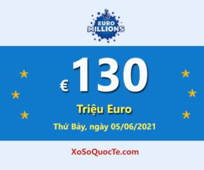 4 người trúng giải Nhất, Euro Millions đang có Jackpot €130 triệu Euro