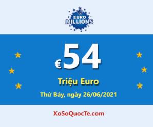 Jackpot của Euro Millions đang là Jackpot lớn nhất thế giới với €54 triệu Euro