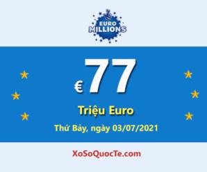 5 người trúng giải Nhất với xổ số Euro Millions; Jackpot €77 triệu Euro đang lớn nhất thế giới