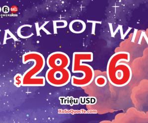 """Jackpot Powerball thứ ba trị giá $285.6 triệu đô trong năm 2021 đã """"Có Chủ"""""""