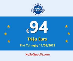 8 người chơi trúng giải Nhất; Jackpot Euro Millions đang là €94 triệu Euro