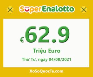 Xổ số Italia SuperEnalotto tăng sức nóng với jackpot €62.9 triệu Euro