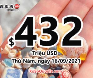 Kết quả xổ số Powerball ngày 14/09/2021: giá trị jackpot tích lũy lên $432 triệu USD